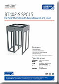 BT402-S SPC15 Glass Panel Turnstile