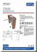 T703S Single Turnstile Remote Operation