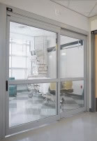 ICU 7200 Series 2 panel Trackless Doors