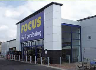 Example of a Curtain Wall System in use at a Focus Store