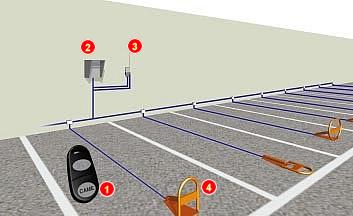 Парковочный модуль UNIPARK, UNIPARK L Автоматическая система для резервирования парковочного места CAME (Италия).