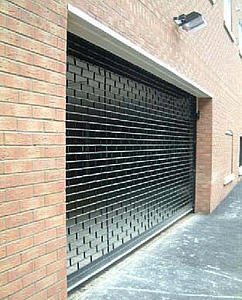 Delta roll 4000 electrically operated, direct drive security roller shutter door